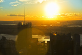 Landscape - Sunset - Times square - Manhattan - New York City - United States Photographic Print by Philippe Hugonnard