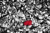 Candados dobles, Amor eterno, París, Francia Lámina fotográfica por Philippe Hugonnard