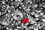 Double locks - Eternal Love - Paris - France Photographic Print by Philippe Hugonnard