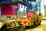Fire truck - Times Square - Manhattan - New York City - United States Reprodukcja zdjęcia autor Philippe Hugonnard