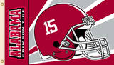 NCAA Alabama Crimson Tide Flag With Grommets Helmet Design Flag