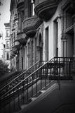 Historiska byggnadsentréer i Harlem Fotografiskt tryck av Philippe Hugonnard