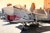 Fighter - Aircraft carrier - pier - Manhattan - New York - United States Photographic Print by Philippe Hugonnard
