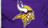 NFL Minnesota Vikings Logo Flag With Grommetts Flag