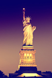 Liberty Island by Night - Statue of Liberty - Manhattan - New York City - United States Photographic Print by Philippe Hugonnard