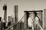 Landscapes - Brooklyn Bridge - New York - United States Photographic Print by Philippe Hugonnard