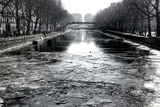 View of the Canal Saint-Martin - Winter -  Paris - France Photographic Print by Philippe Hugonnard