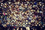 Candados del amor en el puente, París, Francia Lámina fotográfica por Philippe Hugonnard