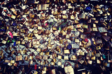 Love padlocks on the bridge - Paris - France Photographic Print by Philippe Hugonnard