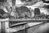 Double Pont - Notre Dame Cathedral - Paris - France Photographic Print by Philippe Hugonnard