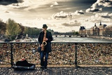 Artist - Pont des Arts - Paris - France Photographic Print by Philippe Hugonnard