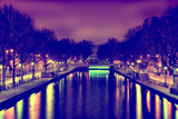 View of the Canal Saint-Martin - Paris - France Photographic Print by Philippe Hugonnard