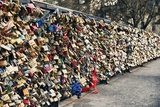 Locks - Eternal Love - The Archeveche Bridge - Paris - France Photographic Print by Philippe Hugonnard