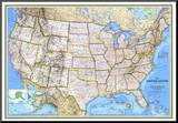 United States Map 1993 Mounted Print