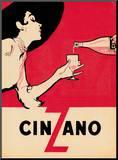 Cinzano Mounted Print