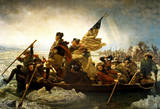 Washington Crossing the Delaware River Reprodukcje autor Emanuel Leutze