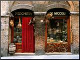 Bicycle Parked Outside Historic Food Store, Siena, Tuscany, Italy Mounted Photo by John Elk III