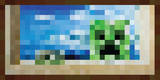 Minecraft Creeper Window Premium Video Game Poster Posters