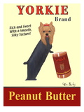 Yorkie Peanut Butter Poster by Ken Bailey