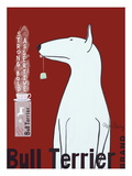 Bull Terrier Tea Giclee Print by Ken Bailey