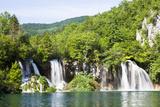 Waterfall Milanovacki Slapovi, Plitvice Lakes, Plitvicka Jezera, Croatia Photographic Print by Martin Zwick