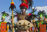Performer Wearing Costume at Dinagyang Festival, City of Iloilo, Philippines Photographie par Keren Su