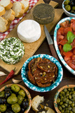 Maltese Appetizer Gbejniet, Capers, Tomatoes, Olives, Maltese Cuisine, Malta Photographic Print by Nico Tondini