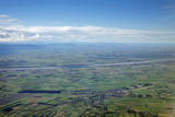 Darfield and Canterbury Plains, Canterbury, South Island, New Zealand Photographic Print by David Wall