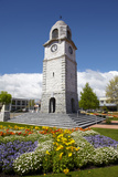 Memorial Clock Tower, Seymour Square, Blenheim, Marlborough, South Island, New Zealand Photographic Print by David Wall