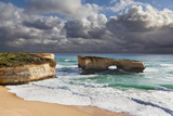 London Arch, Great Ocean Road During Storm and Evening Light, Australia Photographic Print by Martin Zwick
