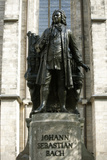 Statue of J. S. Bach on Grounds of St. Thomas Church, Leipzig, Germany Photographic Print by Dave Bartruff