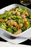 Salad with Shrimp, White Beans, Onions, Arugula, Cuisines Photographic Print by Nico Tondini