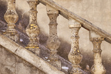 Stone Balusters, Staircase Leading to Home in Greoux-Les-Bains, Provence, France Photographic Print by Brian Jannsen
