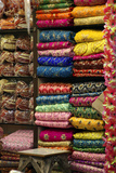 Colorful Sari Shop in Old Delhi Market, Delhi, India Photographic Print by Kymri Wilt