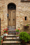 Doorway with Flowers, Pienza, Tuscany, Italy Photographic Print by Terry Eggers