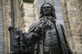 Statue of J. S. Bach, Courtyard of St. Thomas Church, Leipzig, Germany Photographic Print by Dave Bartruff