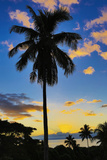 Sunset, Taveuni, Fiji Photographic Print by Douglas Peebles