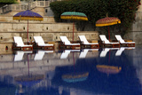 Outdoor Swimming Pool at Oberoi Amarvilas Hotel, Agra, India Photographic Print by Kymri Wilt