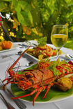 Cuisine, Lobster, Fiji Photographic Print by Douglas Peebles