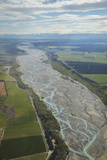 Waimakariri River, North Canterbury, South Island, New Zealand - Aerial Photographic Print by David Wall