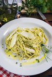 Spaghetti with Herbs, Cuisine Photographic Print by Nico Tondini