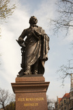 Statue of Felix Mendelssohn, St Thomas Church, Church of Bach, Leipzig, Germany Photographic Print by Dave Bartruff