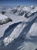 Peters Glacier, Aerial Photo, Denali National Park, Alaska, USA Photographic Print by Gerry Reynolds