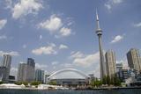 Lake Ontario City Skyline, Cn Tower, Rogers Centr, Toronto, Ontario, Canada Fotografie-Druck von Cindy Miller Hopkins