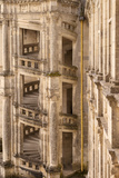 Inner Courtyard Castle Staircase, Chateau Chambord, Loire-Et-Cher, Central France Photographic Print by Brian Jannsen