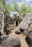 Konso Village, Rift Valley, Compound Gate, Ethiopia, Africa Photographic Print by Martin Zwick