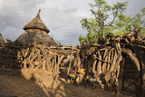 Konso Village, Rift Valley, Family Compound, Ethiopia, Africa Photographic Print by Martin Zwick