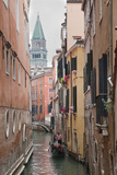 Gondoliers in Back Canal of Venice, Italy Photographic Print by Terry Eggers