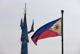 Tv Tower and National Flag, Manila, Philippines Photographic Print by Keren Su