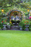 Rose Garden at Butchard Gardens in Full Bloom, Victoria, British Columbia, Canada Photographic Print by Terry Eggers